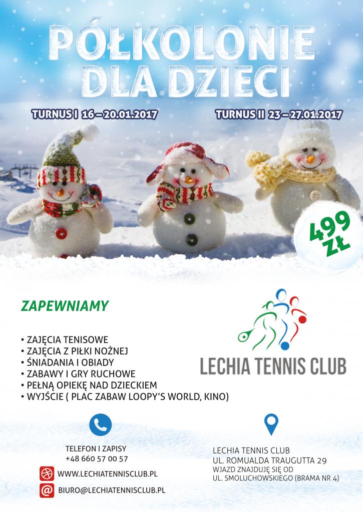 Lechia tennis club połkolonie 2017 zima